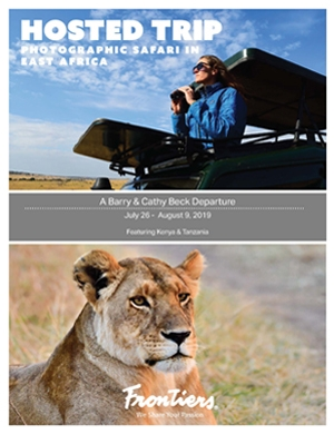 East Africa photographic safari encompassing Kenya & Tanzania, a Beck favorite.