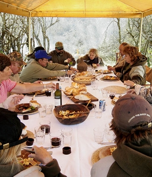 Daily Asados in the field with Pica Zuro Lodge