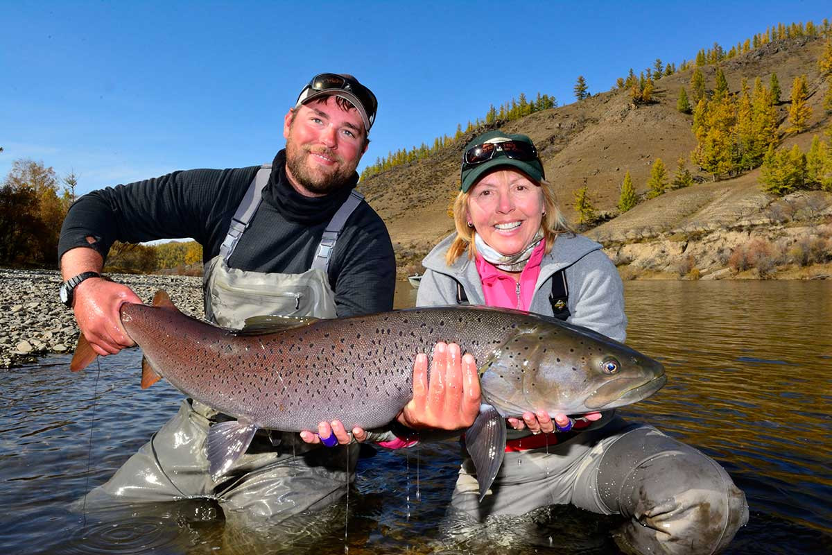 Mongolia fishing fly fishing frontiers travel for Fly fishing mongolia