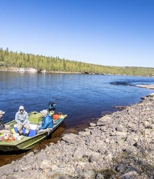 Ryabaga Camp, the Ponoi River