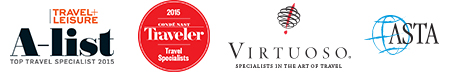 Virtuoso specialist | Travel & Leisure - Top Travel Advisor 2014 | Conde Nast - Top Travel Specialist 2013 | ASTA