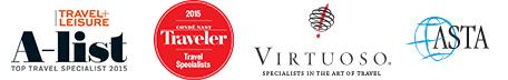Virtuoso specialist | Travel & Leisure - Top Travel Advisor 2014 | Conde Nast - Top Travel Specialist 2013 | ASTA